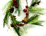 Garland w/ Red Bells, Berries, and Pine Cones