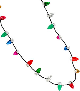 holiday flashing mini bulb necklace - Christmas Light Necklace Battery Operated