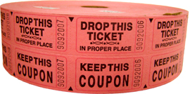 Double Roll Raffle Tickets - Available in 6 colors