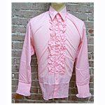 ruffled tuxedo shirt pink