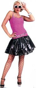 Ladies Disco Skirt - Black
