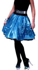 Ladies Disco Skirt - Blue