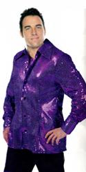 Sequin Disco Shirt - Purple