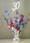 """Multi Colored """"30"""" Balloon Centerpiece"""