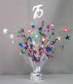 "Multi Colored ""75"" Balloon Centerpiece"