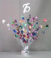 Multi Colored '75' Balloon Centerpiece