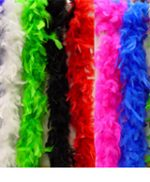 6' Chandelle Feather Marabou Boas - solid and multi colors