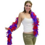 6 Foot Feather Boa - Red & Purple