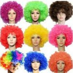 Bushy Curly Clown Wigs