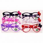 kitty eyeglasses with bow and claw