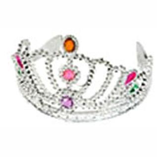 plastic silver tiara