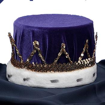 King's Purple Velvet Crown