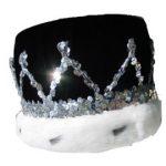 Kings Velvet Crown - Black/Silver