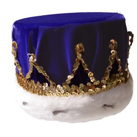 Royal Blue Velvet Crown