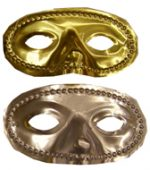 Metallic Plastic Domino Half Mask