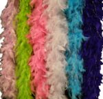 6 Foot Feather Boa with Silver Tinsel Accents
