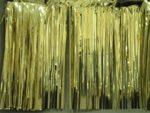 Metallic Foil Curtain - Gold