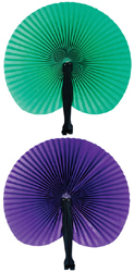 Folding Fan - Available in Purple or Green
