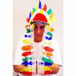 indian chief feathered head dress