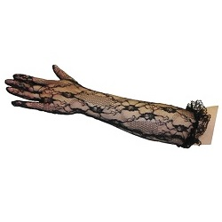 Long Black Lace Gloves
