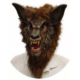 Ferocious Fangs Wolf Mask - Brown