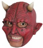 Devil Open Mouth area - Chinless Red w/ white horns