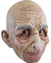 Old Man Open Mouth Chinless Mask Centenarian Uncle Fester