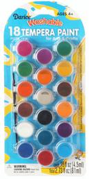 Paint set - 18 colors - Tempera Washable Paint Set w/ brush