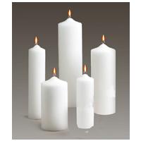 Patrician Pillar Candles White