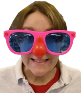 Jumbo Sunglasses with Red Nose