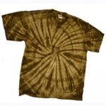 Chocolate Brown Tie Die Shirt