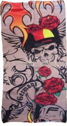 Tattoo Sleeve fake tat Seamless Germany Rose Skull