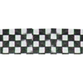 Tyvek Wristbands - Black White Check