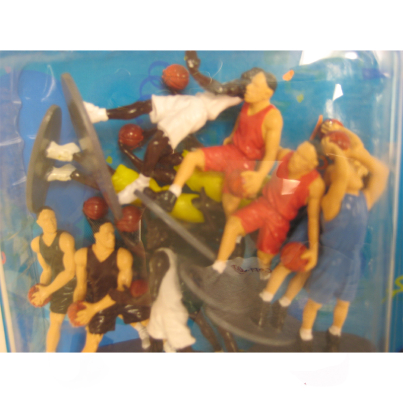Plastic People Figures – Basketball Players – Dozen