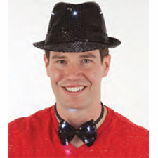 Bow tie - Light up tuxedo style w/sequins