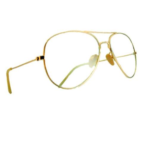 Gold Frame Aviator Eyeglasses