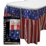 Patriotic Plastic Table Skirt