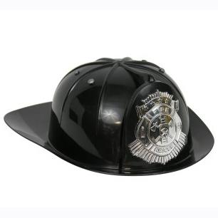 Black Fire Fighter Hat