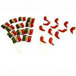 Fiesta and Chili Pepper Toothpick Flags