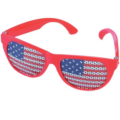 US Flag Mesh Lens Wayfarer Eyeglasses