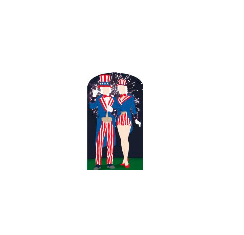 Aunt and Uncle Sam Life Size Photo Prop