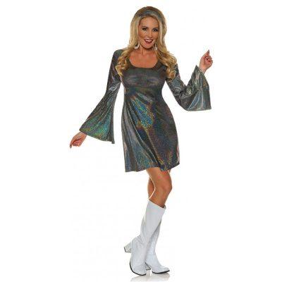 Disco 70s Sparkle Mini Dress