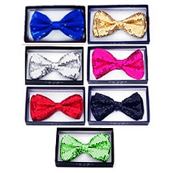Sequin Bow Ties - Assorted Colors