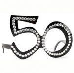 50th Birthday Rhinestone Eyeglasses