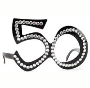 50th Birthday Rhinestone Eyeglasses
