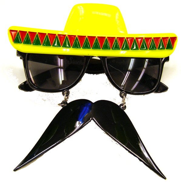 Fiesta Sunglasses With Moustache - Cinco De Mayo