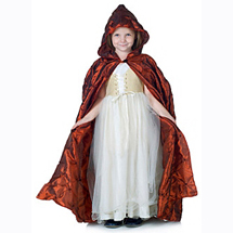 Red Pintuck Cape for Child
