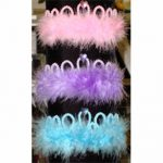 Plastic Tiaras with Stones and Marabou