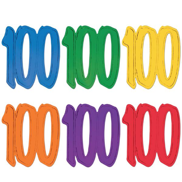 "12"" Foil Number Silhouette Cutouts - 100"