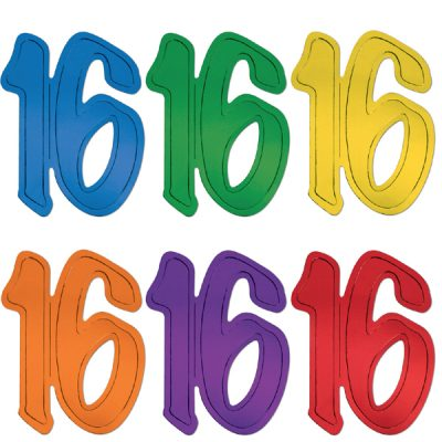 "12"" Foil Number Silhouette Cutouts - 16"
